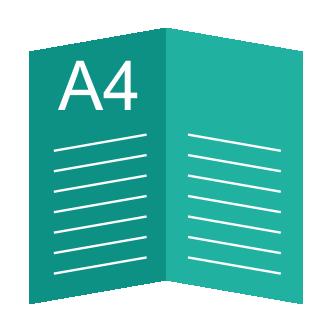 Буклет А4, 1 сгиб (А5 в готовом виде)