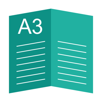 Буклет А3, 1 сгиб (А4 в готовом виде)